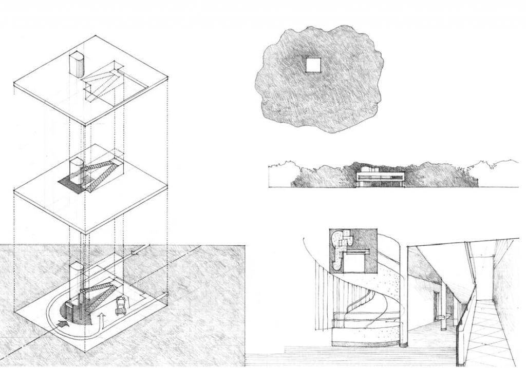 交通体系、周边关系分析图 图源:程大锦,建筑:形式空间和秩序