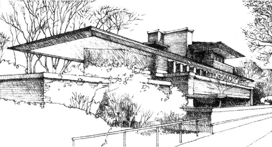 罗比住宅 图源: 程大锦,建筑:形式空间和秩序
