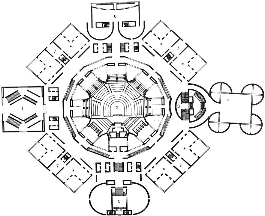 达卡议会大楼 Dhaka Assembly Building平面图