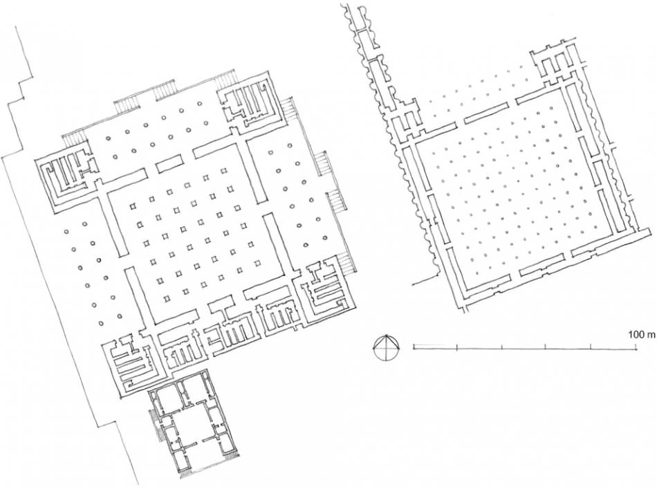 波斯波利斯 宫殿 大厅与百柱厅