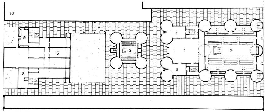 密克维以色列犹太教堂 第五版方案平面图