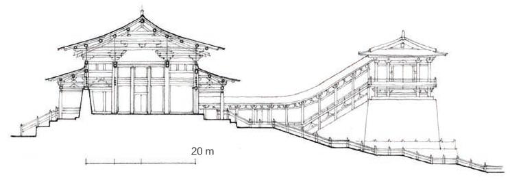 大明宫 含元殿  剖面图