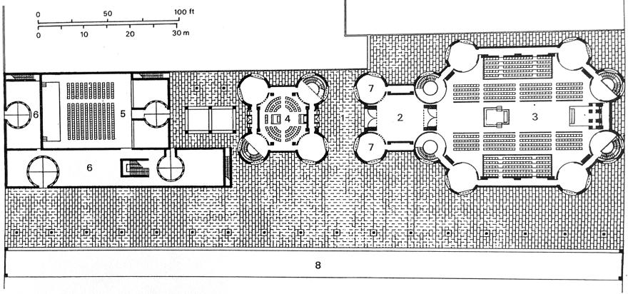 密克维以色列犹太教堂 第八版方案平面图