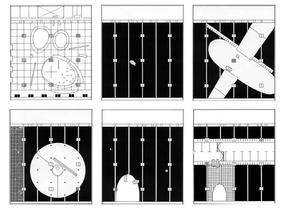 OMA/Rem Koolhaas, competition for the Très Grande Bibliothèque, Paris, 1989.