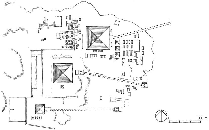 吉萨金字塔群总图
