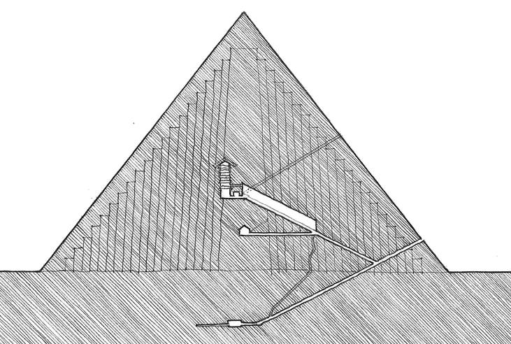 胡夫大金字塔剖面