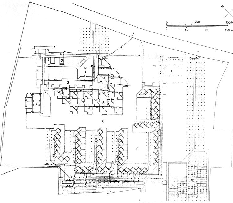 在1972年康提交的第七版总体布局调整中,对学校部分的厨房和餐厅进行了调整,形成了包括餐厅及圆形厨房部分、水塔、露天剧场在内在最完整的方案。最终的建成方案是由康的合作者多西和安南特·拉吉完成,厨房和餐厅被移到学校的西北角。