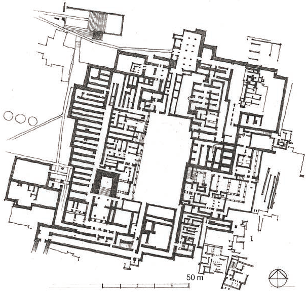 克诺索斯宫平面图