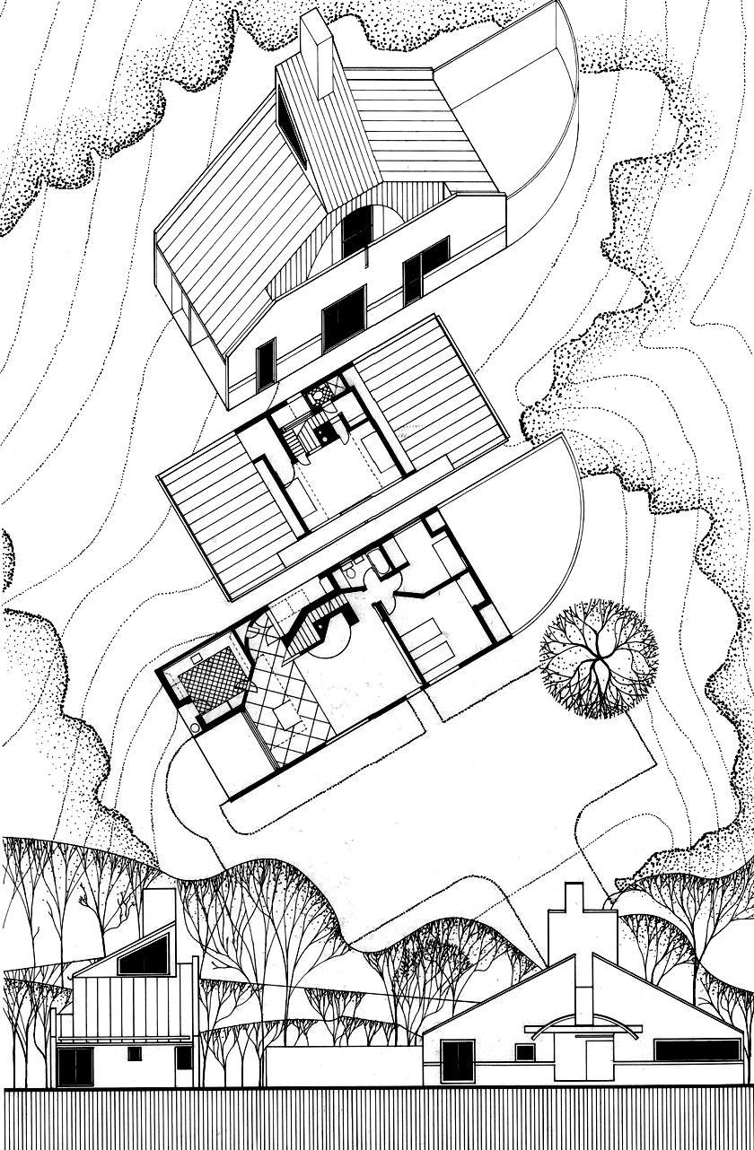 文丘里母亲住宅 Vanna Venturi House 轴测图