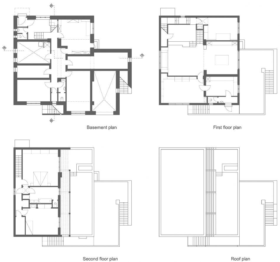 我们选择了阿道夫·卢斯的几栋已建成和未建成的房屋,调查了他的住宅典型的四个相互关联的空间的入口序列模式:门厅+卫生间和衣帽间+客厅/音乐室和正式用餐区。路斯风格室内的Raumplan组织被特意选择来理解住宅的过渡,这种过渡不仅作为门/门槛条件,还通过楼梯上升和微妙的楼层变化来实现。