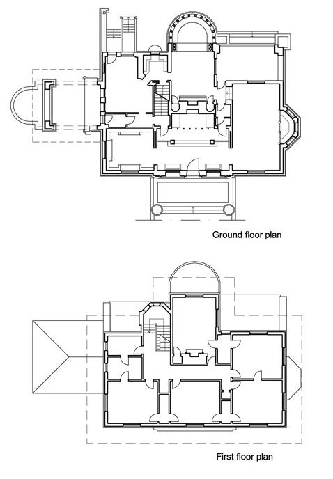 温斯洛住宅平面图