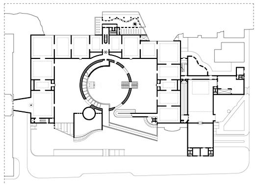 斯图加特国立美术馆新馆二层平面图
