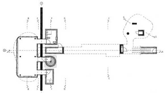 海杜克墙宅2号一层平面图