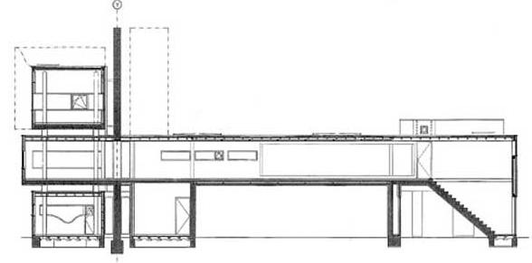海杜克墙宅2号剖面图