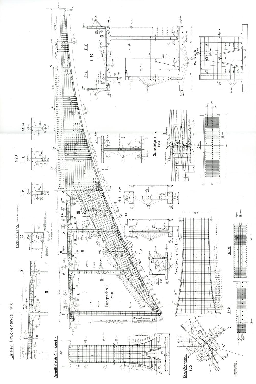萨金纳 托贝尔桥 Salginatobel Bridge 结构图