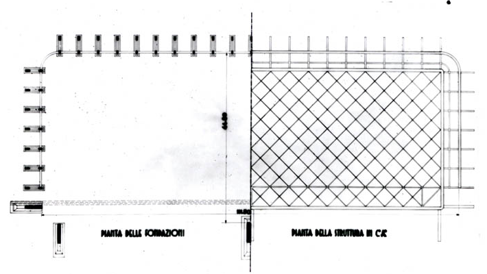皮埃尔·奈尔维-飞机库 Aircraft hangar  平面图 © Pier Luigi Nervi