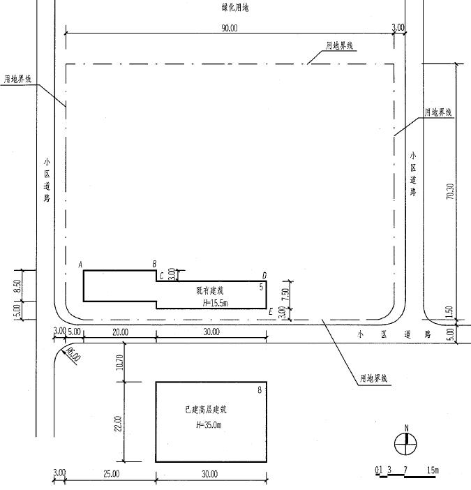 场地设计作图类型一场地分析2011年参考答案