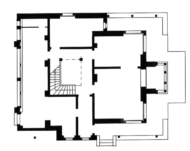佛莱别墅平面图  Masion Fallet plan