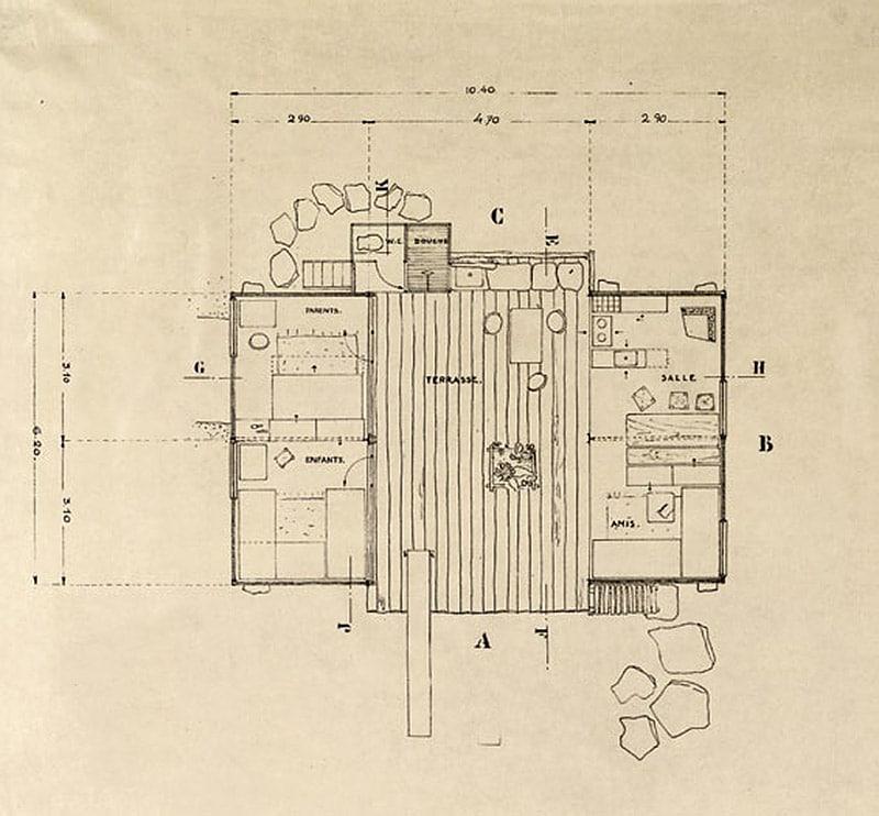 Charlotte Perriand1934年 海滨住宅